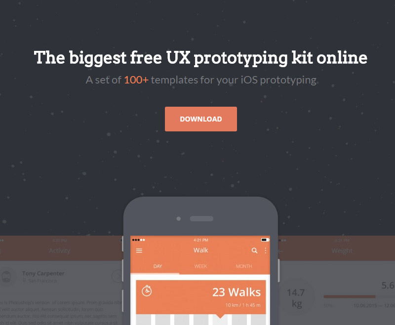 100 iPhone and iPad UX Mockups Set