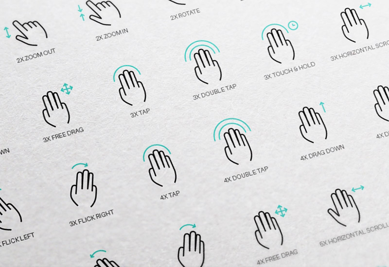 Free 56 Touch Gesture Vector Icons