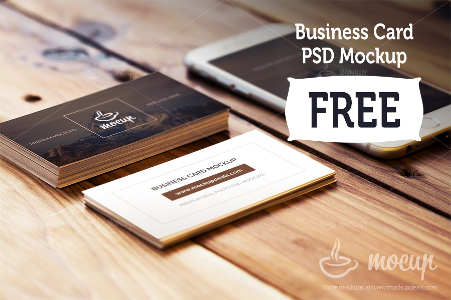 Mockup Kartunama dan iPhone Format PSD