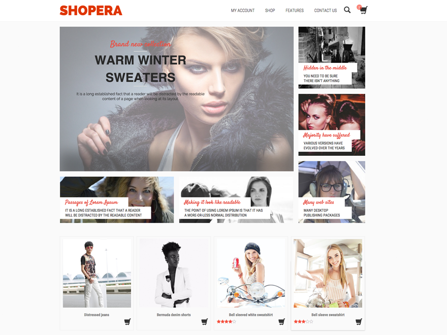 Shopera – WooCommerce Theme Gratis