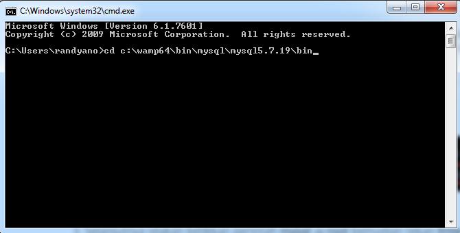 Akses MySQL di Command Prompt