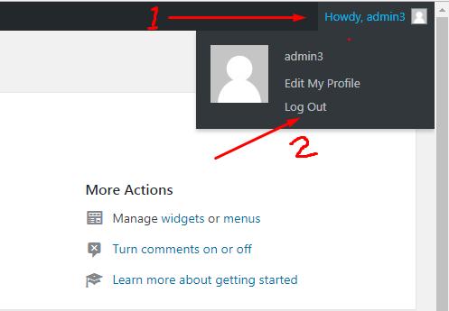 Cara Logout dari WordPress Admin