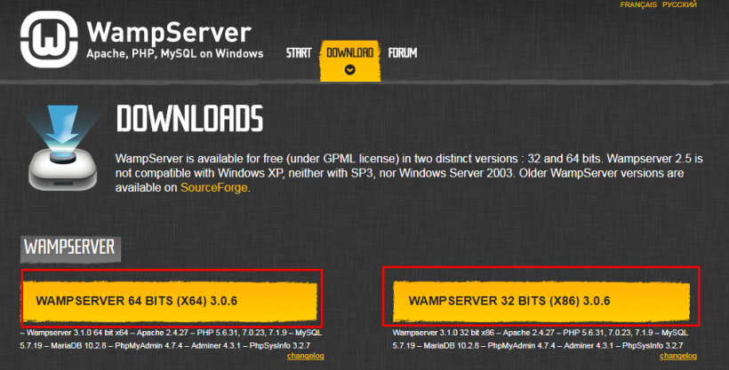 Download WAMPServer