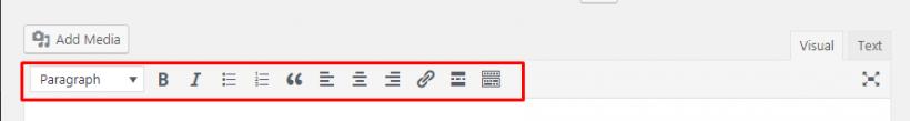 Fitur Toolbar WordPress Editor