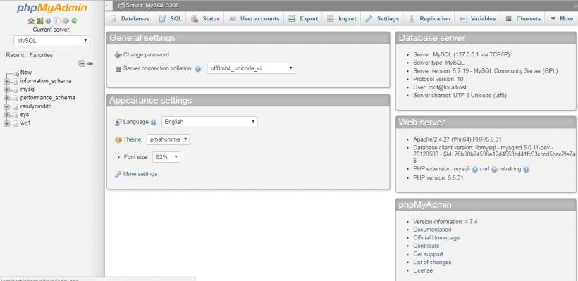 cara membuat database mysql dengan
