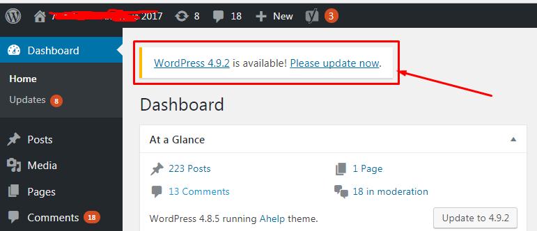 Informasi Untuk Melakukan Update WordPress