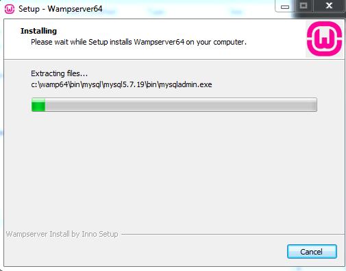 Proses Instalasi WAMPServer di Komputer Anda