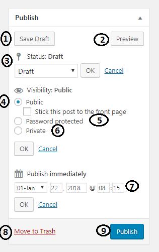 Publish Options WordPress