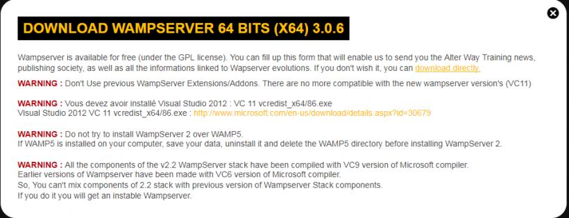 Syarat Install WAMPServer