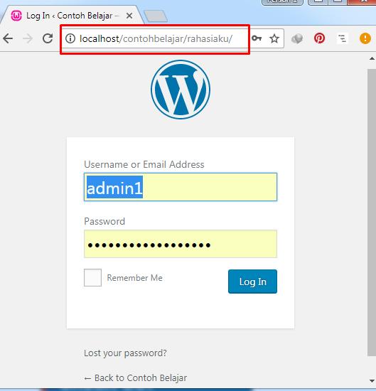 URL Login WordPress yang Baru