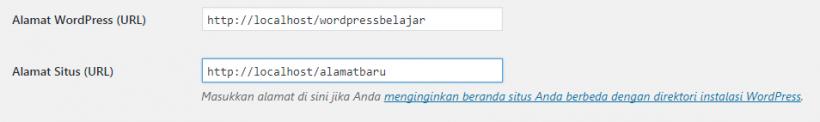 Ubah Alamat Situs WordPress