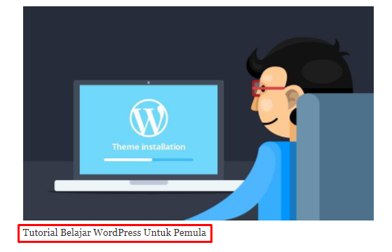 Contoh Caption Image di WordPress