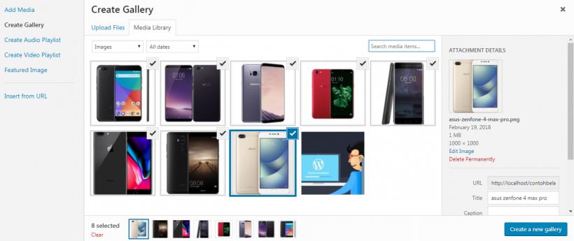 Gallery Gambar di WordPress