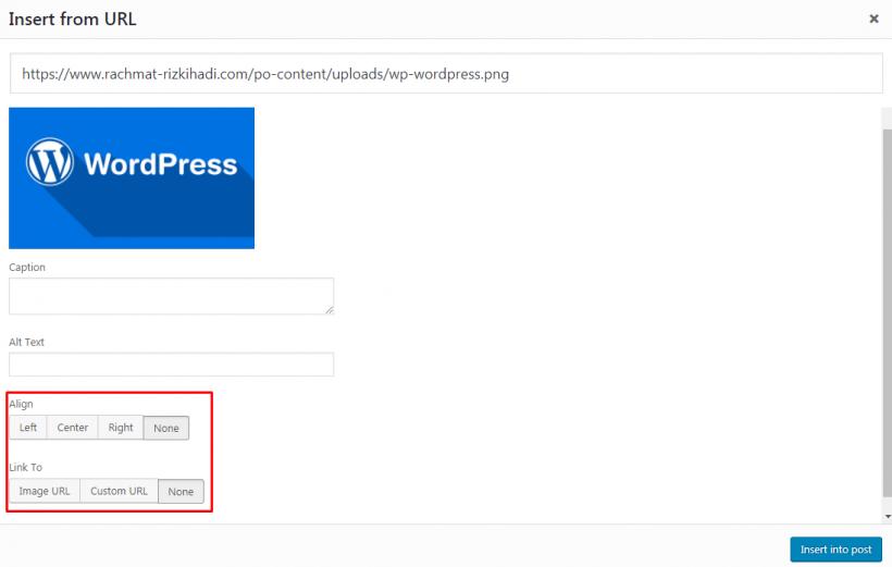 Menambahkan Gambar Di Postingan WordPress Dari URL